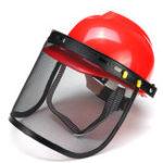 Оригинал Красный защитный шлем Full Face Маска Щетка для зубчатых заготовок для газонокосилки Триммер Кисторезная резца