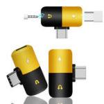 Оригинал Bakeey Двойной наушник 2 В 1 аудио разъем Type-C Адаптер Splitter Audio Converter для Samsung Xiaomi