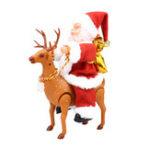 Оригинал Рождественский подарок Electric Santa Claus Ride a Deer Music Коробка Player Украшение игрушки