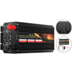 Оригинал 12V / 24V до 220V 7000W Чистый синусоидальный инвертор мощности Dual LCD Дисплей Converter