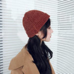 Оригинал Женское Девушки Chic Street Хип-хоп Шапка В прокат Манжеты Вязаные шапочки