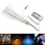 Оригинал USB Powered DIY Фейерверк Starburst 180 LED Fairy String Light Дистанционное Управление Рождественский декор DC5V