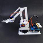 Оригинал DIY 4DOF Arduino RC Robot Arm Образовательный Набор С SG90 Servos Белый