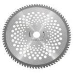 Оригинал 10 дюймов 80 Зубчатый карбидный наконечник Газонокосилка 25,4 мм Диаметр отверстия для Щетка Резак Триммер
