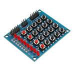 Оригинал 8 LED Кнопочный переключатель 4×4 16 независимых матричных матриц Клавиатура Модуль для AVR ARM STM32