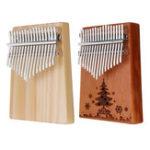 Оригинал 17 ключей Вуд Kalimba Peachwood Thumb Фортепиано Перкуссия Тюнинг Hammer с логотипом Рождественской елки