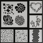 Оригинал Dot Star Сердце Rose Sakura Flower Painting Stencils DIY Альбом для вырезок для фотоальбомов Hand Craft