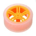 Оригинал 4шт 65 * 27мм Оранжевый + Прозрачный цвет Резиновые колеса для TT Мотор Arduino Smart Chassis Авто