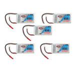Оригинал 5Pcs Gaoneng GNB 7.4V 450mAh 2S 80 / 160C Lipo Батарея JST Plug для Eachine Aurora 90 100 FPV Racer