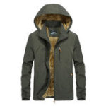 Оригинал Mens Fleece Thick Warm Водонепроницаемы Windproof Winter Parka