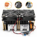 Оригинал 1800W 40A ZVS Модуль индукционного нагревательного модуля Flyback Driver Heater + катушка Tesla + вентилятор