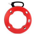 Оригинал 30M / 40M / 50M / 60M Стальной кабель Push Puller Conduit Ducting Snake Rodder Fish Tape Провод