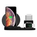 Оригинал 3 В 1 Qi Беспроводное зарядное устройство для телефона Stand Holder Для смартфона / iPhone / Apple Watch / Apple AirPods
