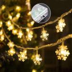 Оригинал 3M 20LED Батарея Управляемый Снежинка Фея Свет строки Рождество Свадебное Праздник Фестиваль Фестиваль