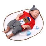Оригинал NPK 23 дюймов 58см Reborn Baby Sleeping Soft Силиконовый Кукла Handmade Lifeike Baby Girl Куклаs Play House Toys День рождения