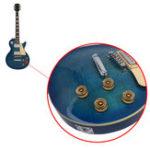 Оригинал 1шт Guitar Tuning Pegs Золотая голова Полностью закрытый тон для гитарных аксессуаров
