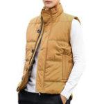 Оригинал Mens Winter Button Zipper Placket Теплый свет Мягкий жилет