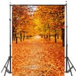 Оригинал 5x7ft Виниловая осень Осенняя фотография Фоновая фотография Studio Prop Backdrop