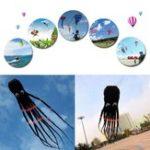 Оригинал 3D 26ft 8m Single Line Black Octopus POWER Спорт Огромный Soft Кайт На открытом воздухе Игрушка