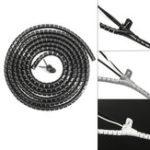 Оригинал 3M 10мм 3 Цвета Кабель Tidy Провод Организация Набор Wrap Инструмент Спираль Офис ТВ для дома