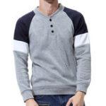 Оригинал МужскиеповседневныесвитераV-образнымвырезомТонкий Fit Button Pullover
