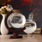 Оригинал Christmas Gift Weather Forecast Crystal Bottle Globe Storm Home Desk Decor Wood Glass Base Novelties Toys