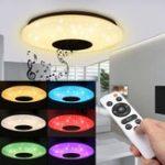 Оригинал Современный 60W RGB LED Потолочный светильник Bluetooth Music Speaker Лампа Дистанционный APP Control