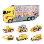Оригинал 7PCS Большой строительный грузовик Экскаватор Digger Kid Diecast Модель Взрывная машина для автомобилей Авто