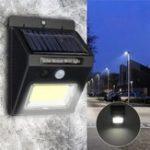 Оригинал Солнечная Power Super Bright COB 24 LED PIR Motion Датчик Настенный светильник На открытом воздухе Беспроводной Водонепроницаемы Лампа