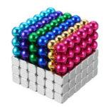 Оригинал 216PCS 5mm Cube Buck Ball Mixcolour Магнитные игрушки Неодим N35 Магнит