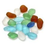 Оригинал 10-16 мм Смешанный Цвет Udrilled Sea Пляжный Стеклянные Бусины Объем DIY Ювелирные Изделия Кулон Декор