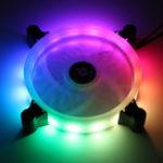 Оригинал 12см 16million Color RGB LED Тихий компьютер Чехол Вентилятор охлаждения ПК + пульт дистанционного управления