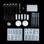 Оригинал 68Pcs / set DIY Craft Набор Набор Силиконовый Кристалл Формовочные изделия Кулон Смола литье
