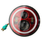 Оригинал 7-дюймовый H4 LED Фары Привет-Lo Луч света Свет ореол Угол глаза для спорщик