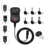 Оригинал Универсальный 3V-12V 12W Регулируемый AC / DC блок питания UK AU Plug зарядное устройство для LED Strip Light