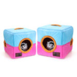Оригинал Soft Уютная кровать для питомца Igloo Cave Warm Собака / Щенок / Кот / Котенок Cube Домашняя кровать для животных