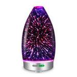 Оригинал 120 МЛ 7 Цветов Свет 3D Стекла Ультразвуковой Прохладный Туман Увлажнитель Воздуха Масло Аромат Essential Диффузор