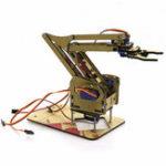 Оригинал DIY 4DOF Arduino Акриловый RC Robot Arm Gripper Образовательный Набор С сервоприводами MG90S