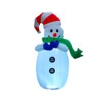 Оригинал 1.2M Рождество Надувной Снеговик LED Украшения Игрушки На открытом воздухе Сад Огни