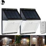 Оригинал 88 LED Солнечная Power Motion Датчик Легкий голос Дистанционное Управление Сад Безопасность На открытом воздухе Двор Стена Лампа