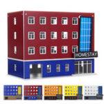 Оригинал  1/150 Шкала Outland Building Model N Gauge Scene Modern Школа Общежитие