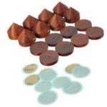 Оригинал 8шт шипы колодки палисандр спикер изоляция ножки стенд 23 мм / 0,91 дюйма деревянный