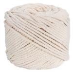 Оригинал 4ммx100м Натуральный бежевый хлопок Витой шнур Веревка DIY Ремесло в макраме плетёная плетёная Провод