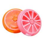 Оригинал 7 Слотов Круглый Хранения Инструмент Коробка Болт Орех Оранжевый Розовый Цвет Коробка