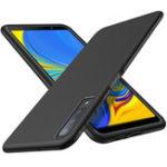 Оригинал BakeeyУглеродноеволокноЗащитноеЧехолДля Samsung Galaxy A7 2018 Ударопрочный Soft ТПУ Задняя крышка