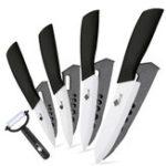 Оригинал MYVIT5PCSКерамическийKnivesНабор Kitchen K nives 3 4 5 6 дюймов Набор для повара Chef K nife Повар Овощечистка Белый Лезвие циркония Многоцветн