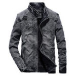 Оригинал MensWinterВинтажСтильнаяфлисоваяподкладка из теплого джинсовой куртки