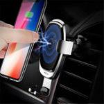 Оригинал Рок Модернизированный 5 Вт 7.5 Вт 10 Вт Интеллектуальный Qi Беспроводная Быстрая Зарядка Авто Замок Авто Держатель для Мобильного Телефона