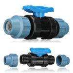 Оригинал Соединительные фитинги из 20-мм трубопровода MDPE со встроенным шаровым клапаном вкл / выкл