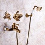 Оригинал Античная латунная насадка для душа Ванная комната Смеситель для ванны